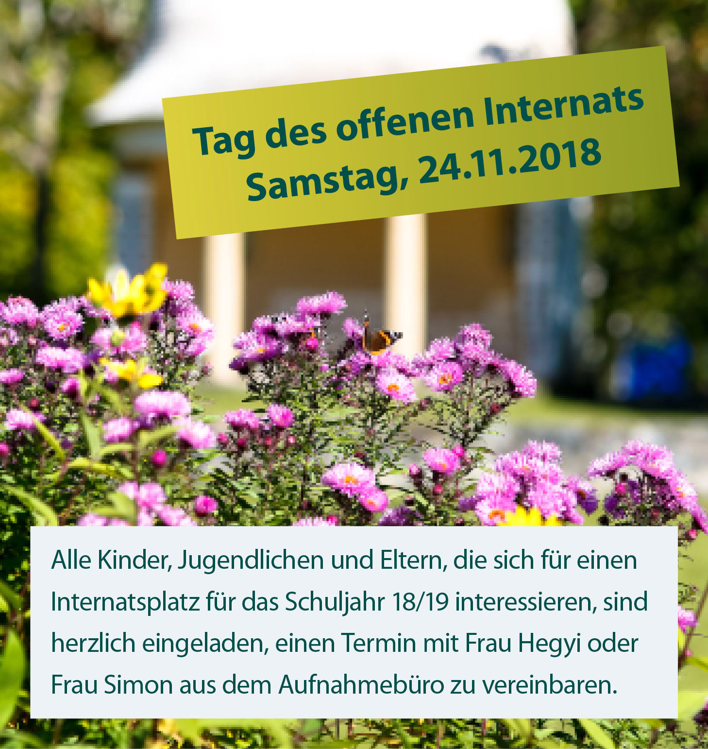 tag des offenen internats november