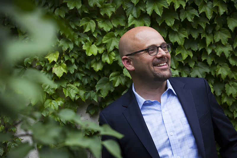 Daniel Ziblatt is pictured at the Center for European Studies at Harvard University. Photo by Stephanie Mitchell